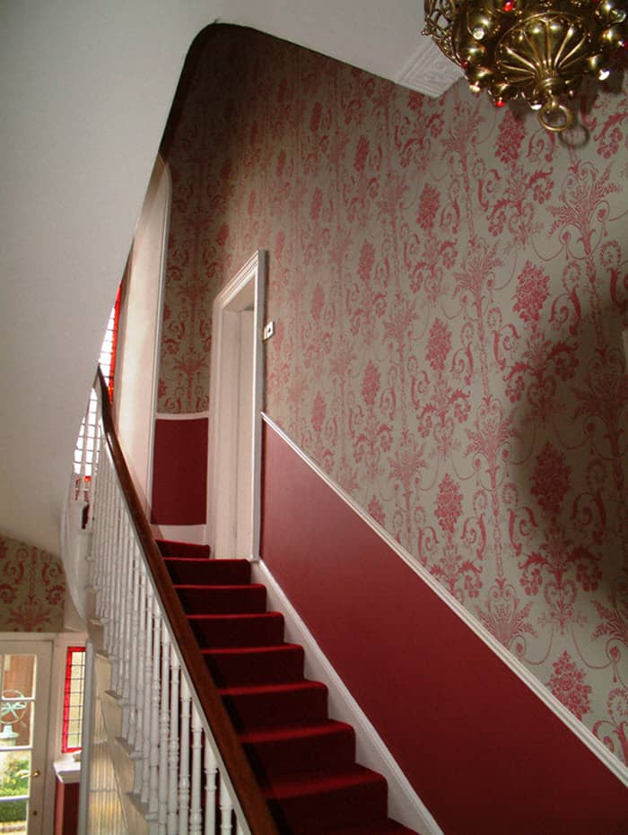 Portfolio - How to wallpaper stairs and landing ...